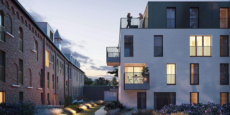 Nieuwbouw en renovatie gaan hand in hand op de site van Villa Karmel.